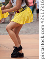 women legs of salsa dancing in the street 42517316