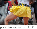women legs of salsa dancing in the street 42517318
