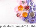 Mix of healthy herbal tea 42518366