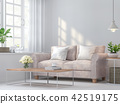 Vintage living room 3d render 42519175