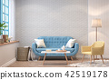 Vintage living room 3d render 42519178