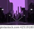Violet city 3d render 42519180
