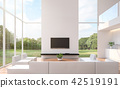 Modern white  living room 3d render 42519191