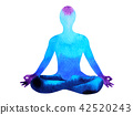 color lotus pose 42520243