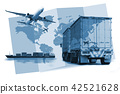 Transportation, import-export  logistics concept 42521628