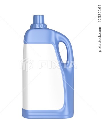 Liquid detergent bottle with blank label - Stock
