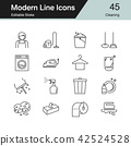 Cleaning icons. Modern line design. 42524528