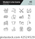 Cleaning icons. Modern line design. 42524529