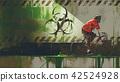 cyclist in biohazard zone 42524928