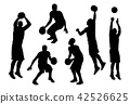silhouette basketball player in action set 2 42526625