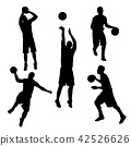vector of silhouette basketball player in action 42526626