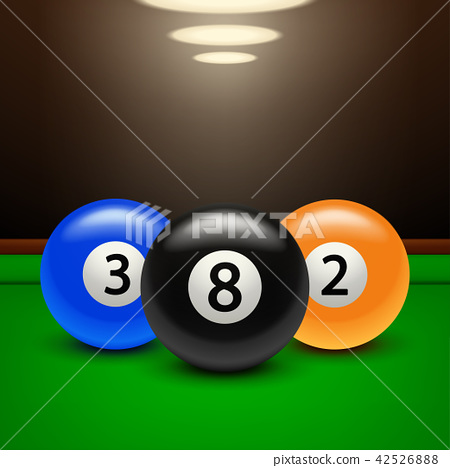 billiard banner three balls 42526888