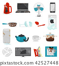 Broken appliance vector damaged homeappliances or burnt electrical household equipment illustration 42527448