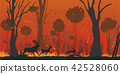 Natural Disaster Forest Fire Flat Vector Concept 42528060