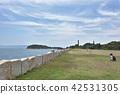 세토 이누 화강암 벽과 바다와 하늘 42531305