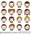 นักเรียน,ไอคอน,ชายหญิง 42533323