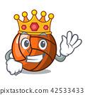 King volleyball mascot cartoon style 42533433