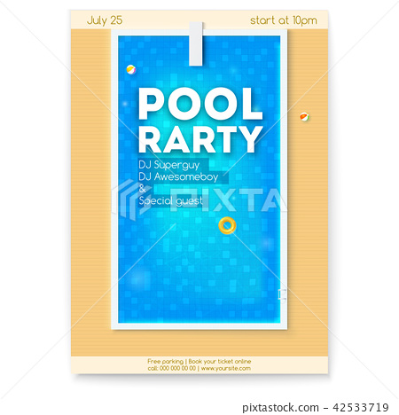 Summer Party In Swimming Pool Poster