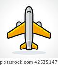 plane, vector, icon 42535147