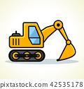 Vector illustration of excavator design 42535178