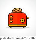 toaster, bread, toast 42535182