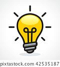 bulb, light, icon 42535187