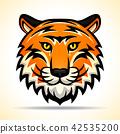 tiger, vector, face 42535200