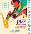 jazz, festival, vector 42537118