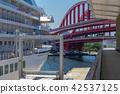 고베 포트 터미널, 대형 크루즈 접안 중. 42537125