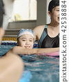 スイミング コーチと子供 42538884