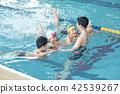 スイミング コーチと子供 42539267