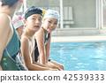 スイミング コーチと子供 42539333