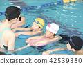 スイミング コーチと子供 42539380