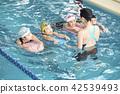 スイミング コーチと子供 42539493