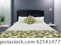 Beautiful Clean and Modern Bedroom with empty wall 42541477
