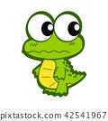 Cute Cartoon Crocodile 42541967