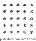 Icon set - weather and forecast filled icon style  42543248