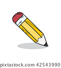 pencil illustration on white background 42543990