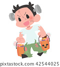 ตัวละครฮาโลวีนคิวเด็ก 1 คน 42544025