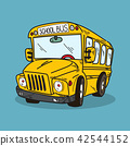 School bus illustration on color background 42544152