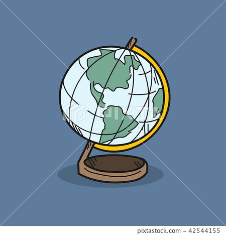 World model illustration on color background 42544155