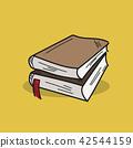 Book illustration on color background 42544159