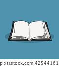 Book illustration on color background 42544161