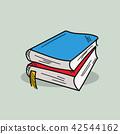 Book illustration on color background 42544162