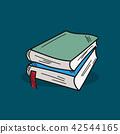 Book illustration on color background 42544165