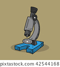 Microscope illustration on color background 42544168