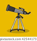Telescope illustration on color background 42544173