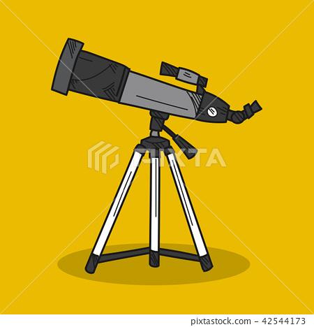 Telescope illustration on color background 42544173
