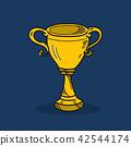 Trophy illustration on color background 42544174