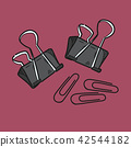 Paper clip illustration on color background 42544182